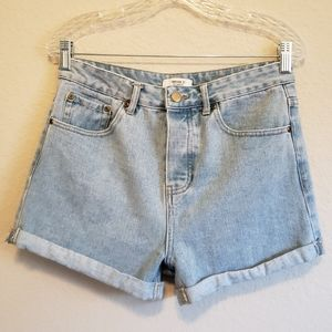4/$25 Forever 21 High Rise Button Fly Denim Shorts